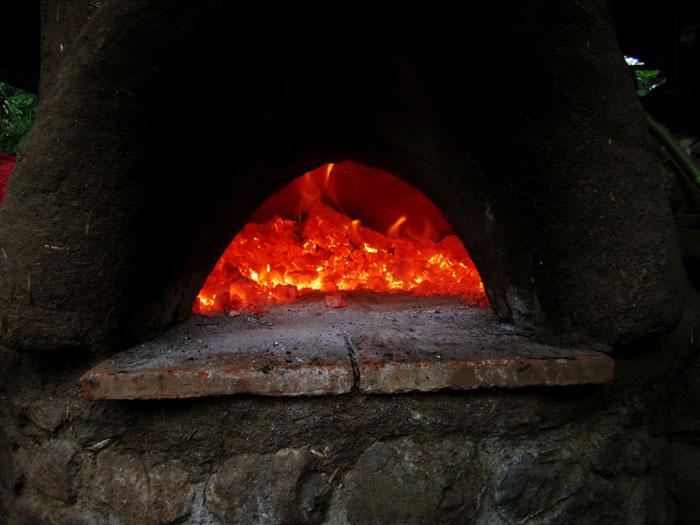 cob oven fire